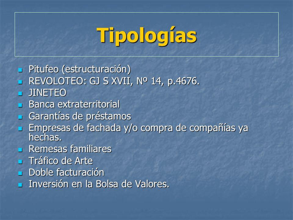 Tipologías Pitufeo (estructuración)