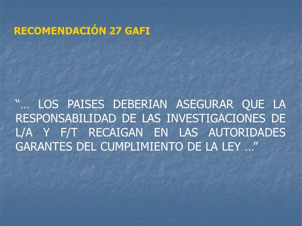 RECOMENDACIÓN 27 GAFI