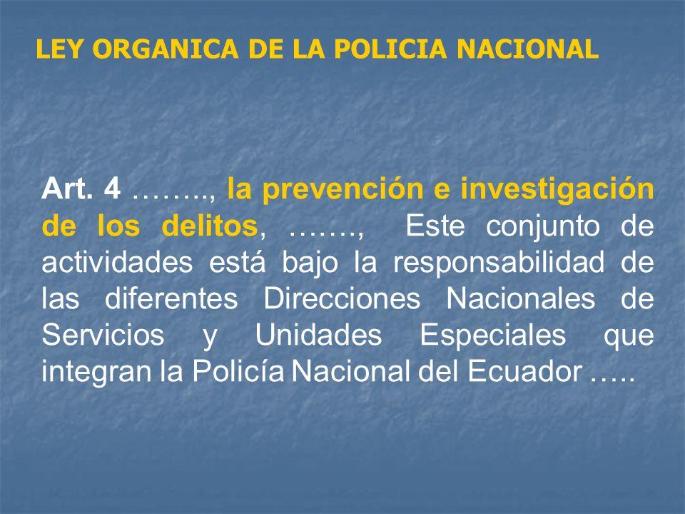 LEY ORGANICA DE LA POLICIA NACIONAL