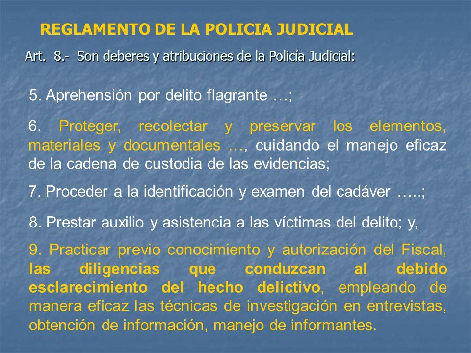 REGLAMENTO DE LA POLICIA JUDICIAL