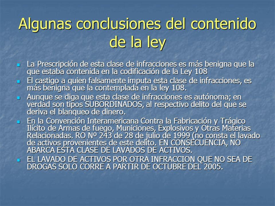 Algunas conclusiones del contenido de la ley