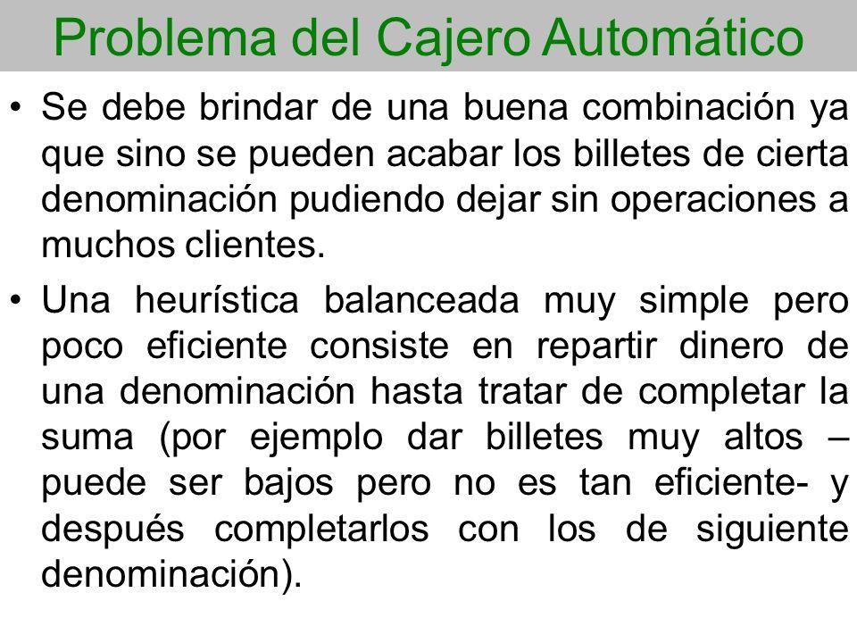 Problema del Cajero Automático