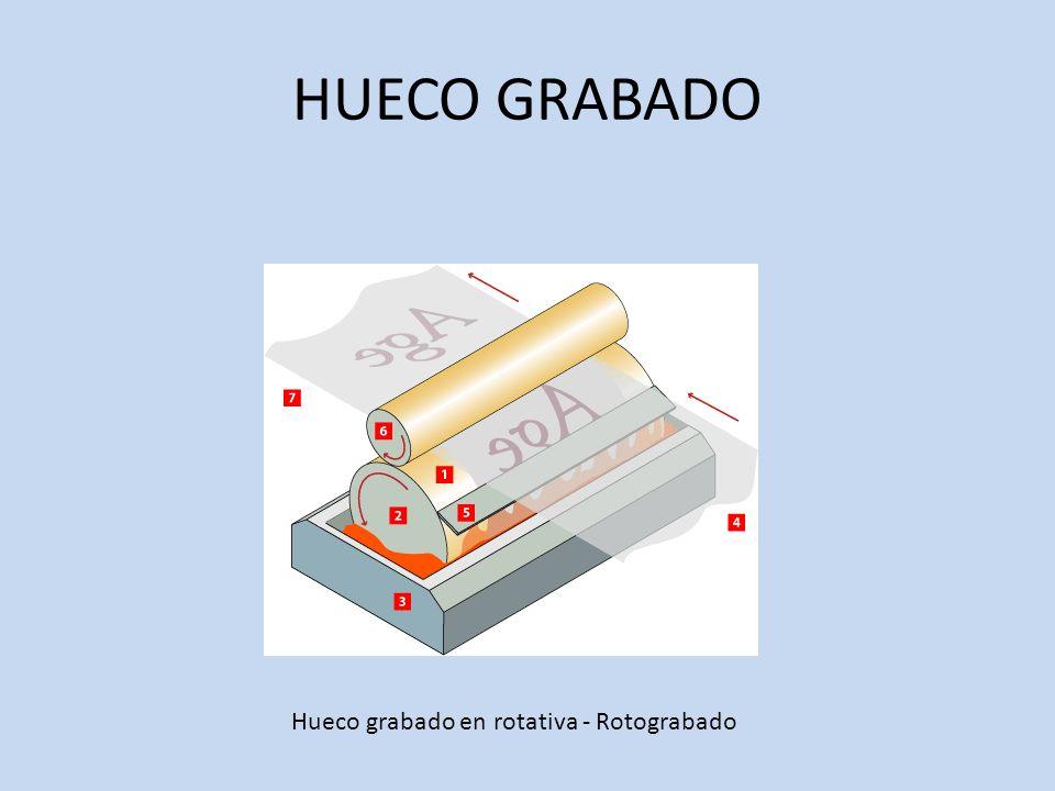 HUECO GRABADO Hueco grabado en rotativa - Rotograbado