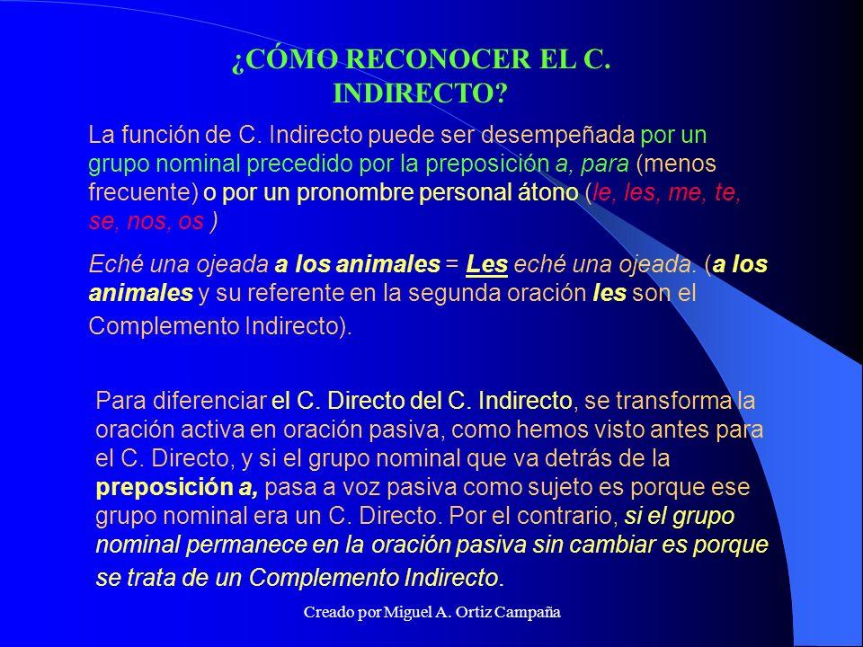 ¿CÓMO RECONOCER EL C. INDIRECTO