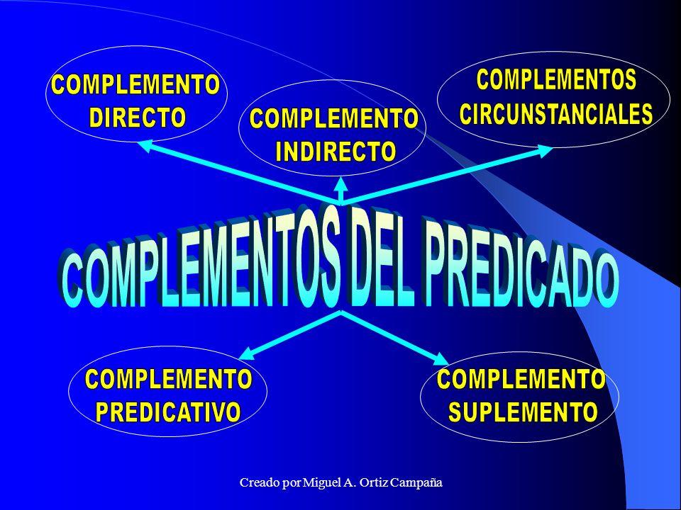 COMPLEMENTOS DEL PREDICADO
