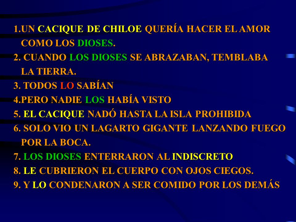1.UN CACIQUE DE CHILOE QUERÍA HACER EL AMOR