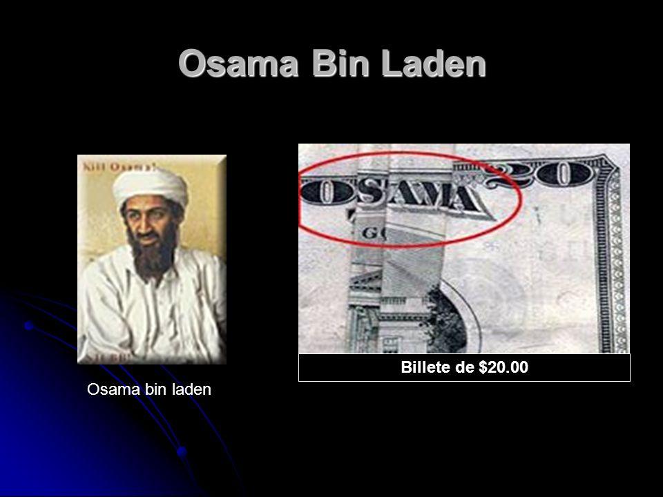 Osama Bin Laden Billete de $20.00 Osama bin laden