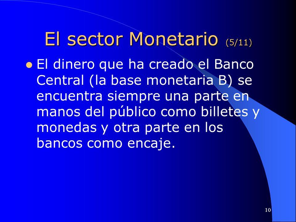 El sector Monetario (5/11)