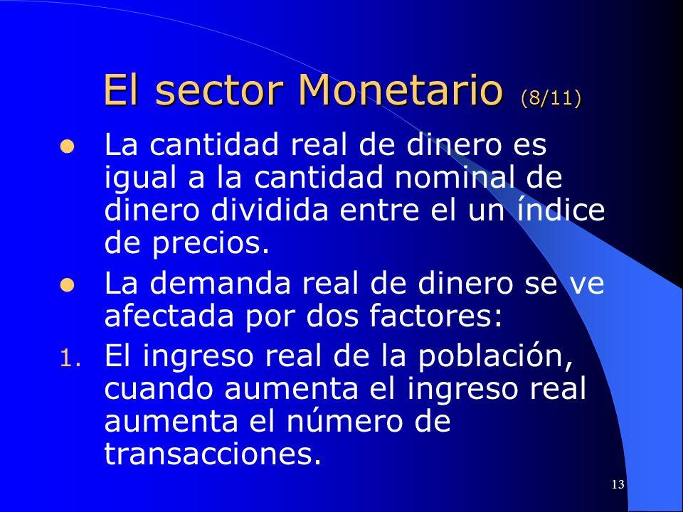 El sector Monetario (8/11)