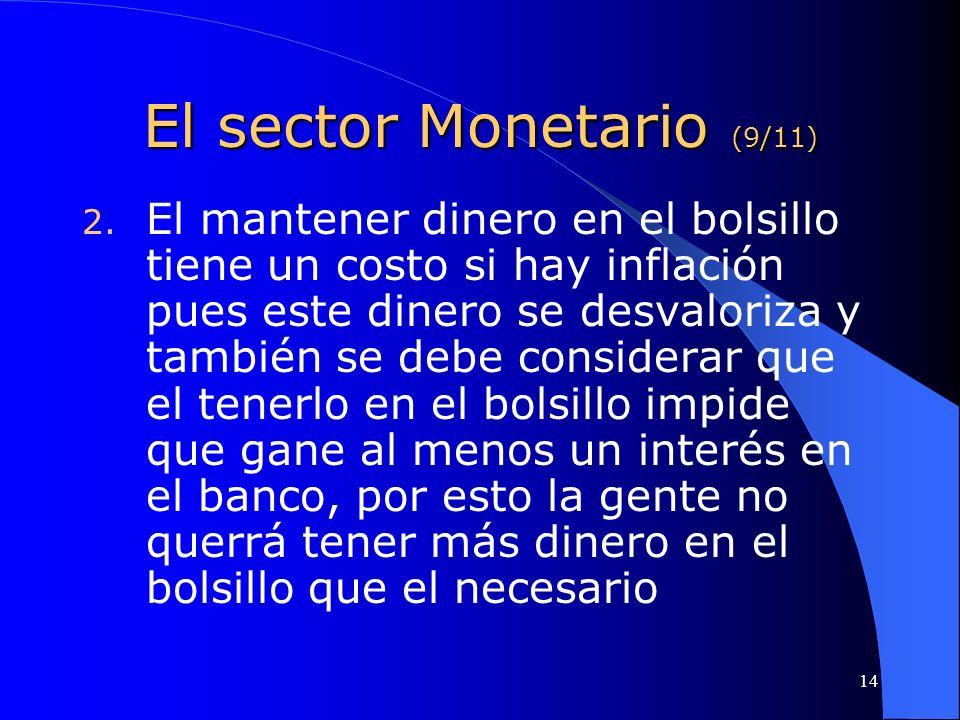 El sector Monetario (9/11)