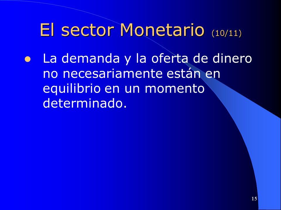 El sector Monetario (10/11)