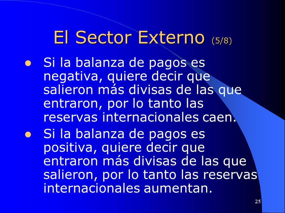 El Sector Externo (5/8)