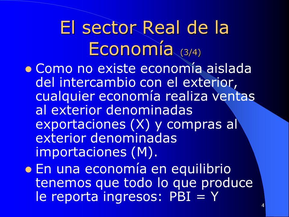 El sector Real de la Economía (3/4)