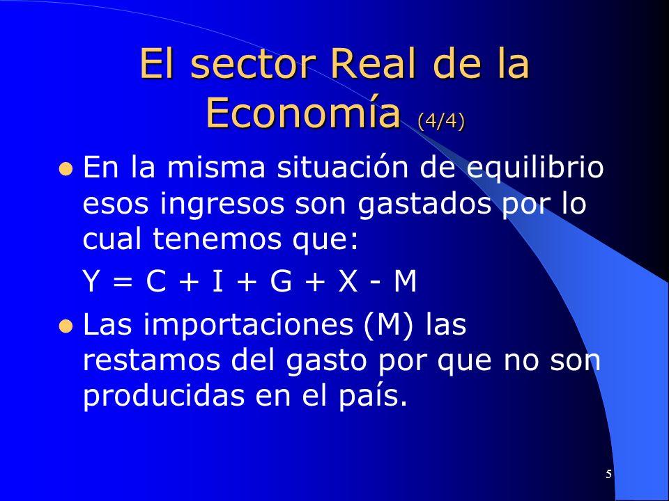 El sector Real de la Economía (4/4)