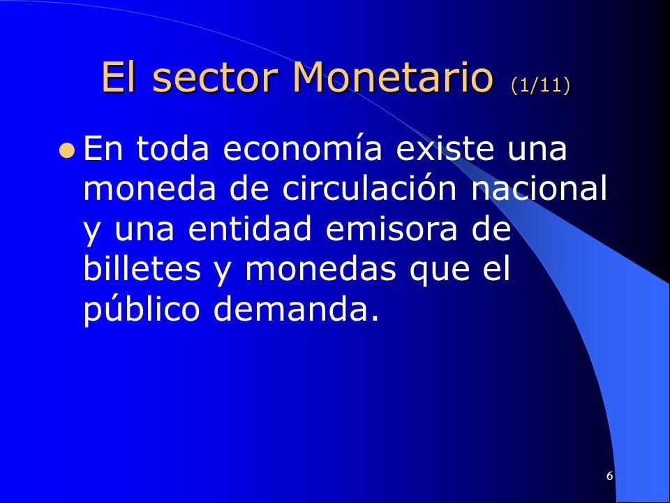 El sector Monetario (1/11)