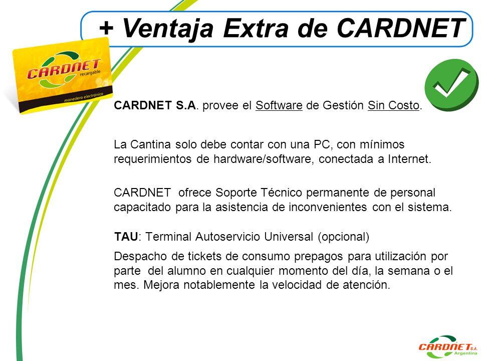+ Ventaja Extra de CARDNET