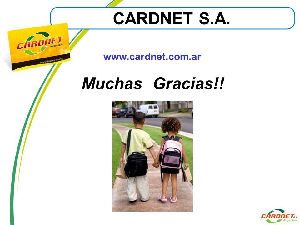 CARDNET S.A. Muchas Gracias!!