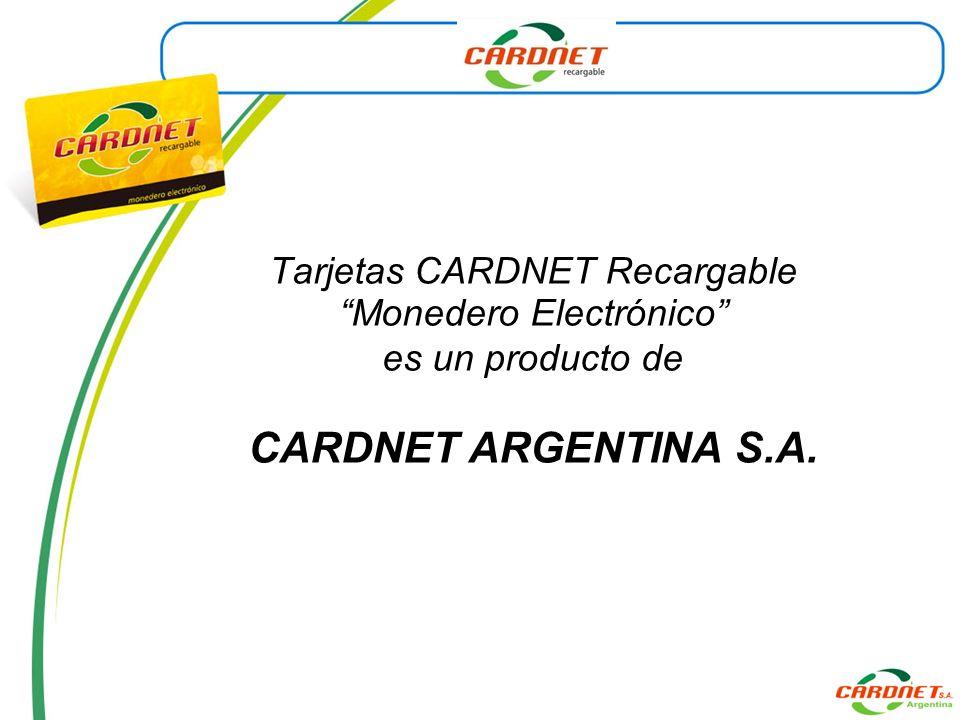 CARDNET ARGENTINA S.A. Tarjetas CARDNET Recargable