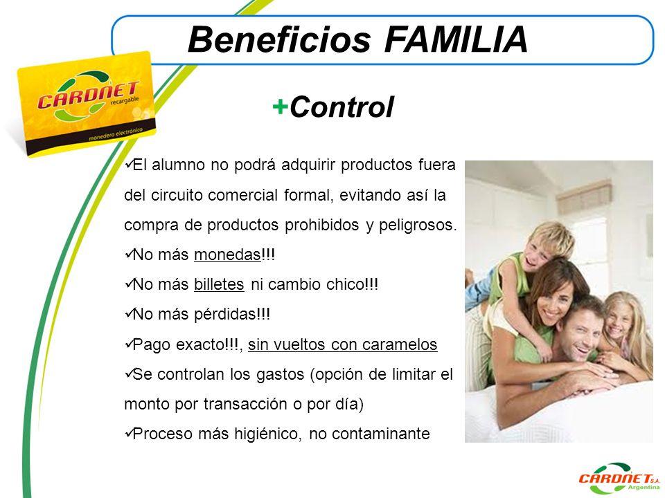 Beneficios FAMILIA +Control