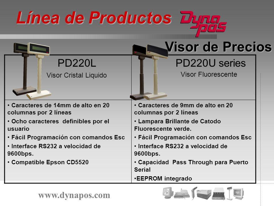 Línea de Productos Visor de Precios PD220L PD220U series
