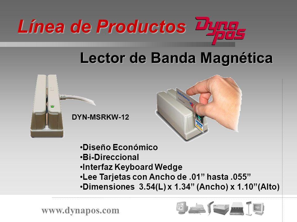 Línea de Productos Lector de Banda Magnética www.dynapos.com