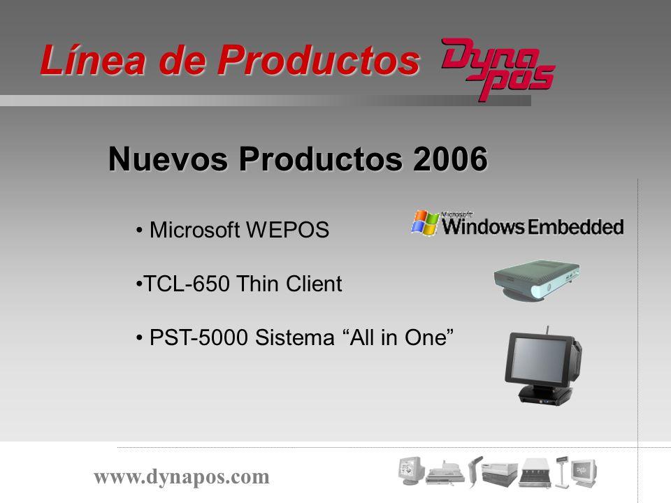 Línea de Productos Nuevos Productos 2006 Microsoft WEPOS