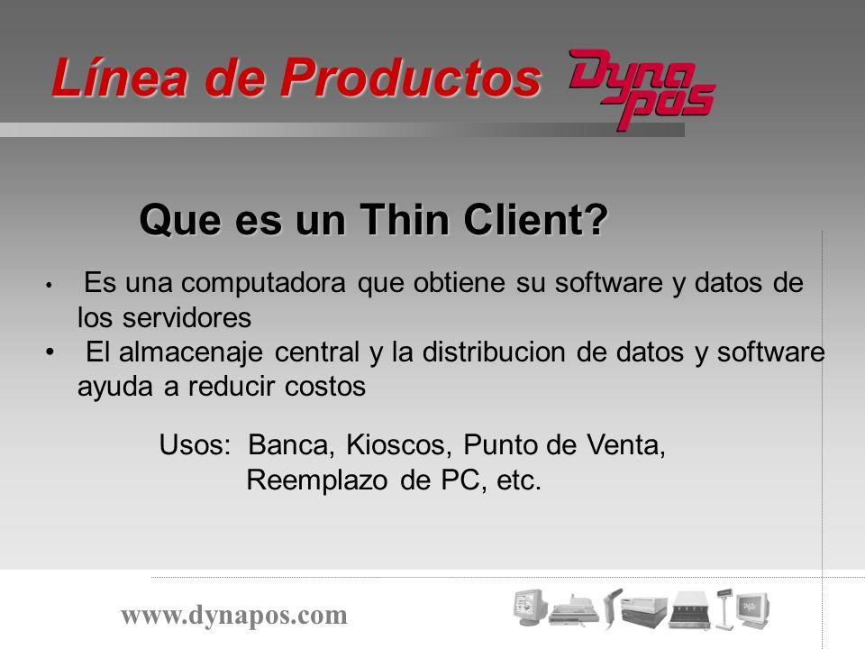 Línea de Productos Que es un Thin Client