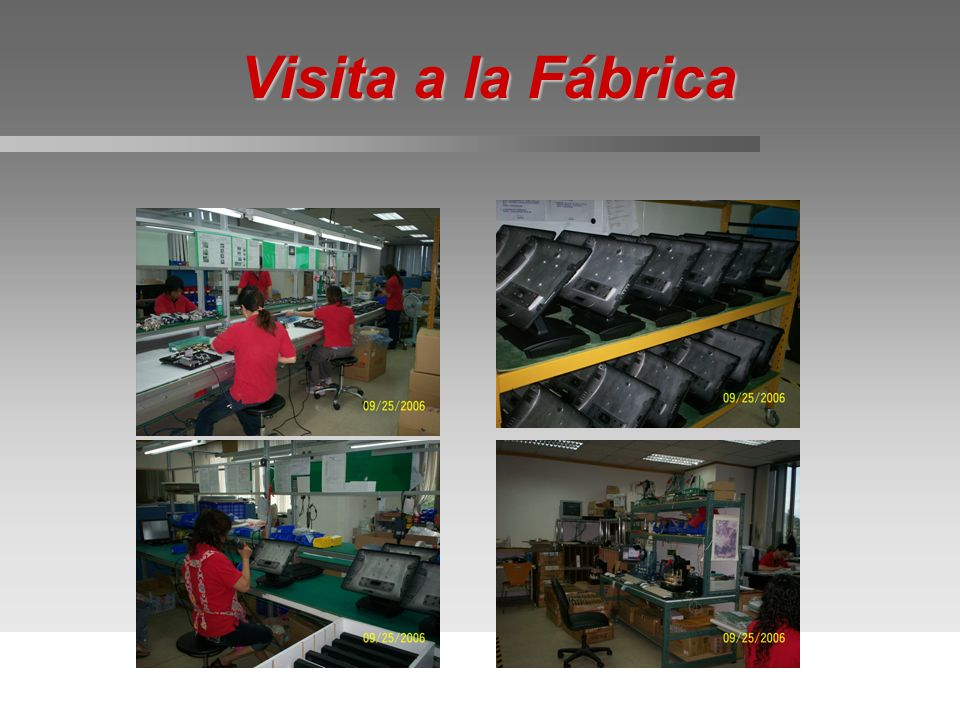 Visita a la Fábrica Click on POS9000 picture to go back to product line