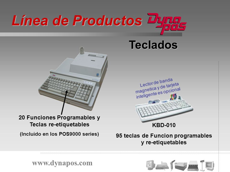 Línea de Productos Teclados www.dynapos.com