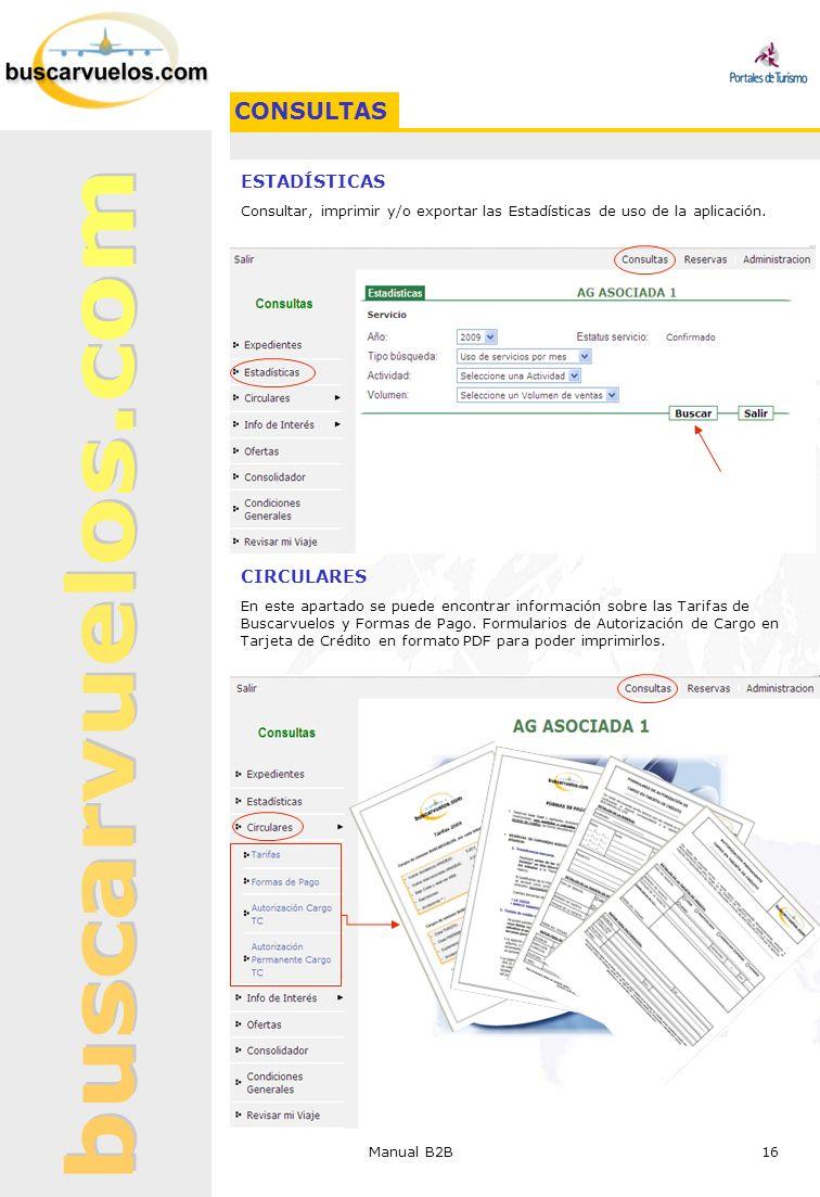 CONSULTAS ESTADÍSTICAS CIRCULARES
