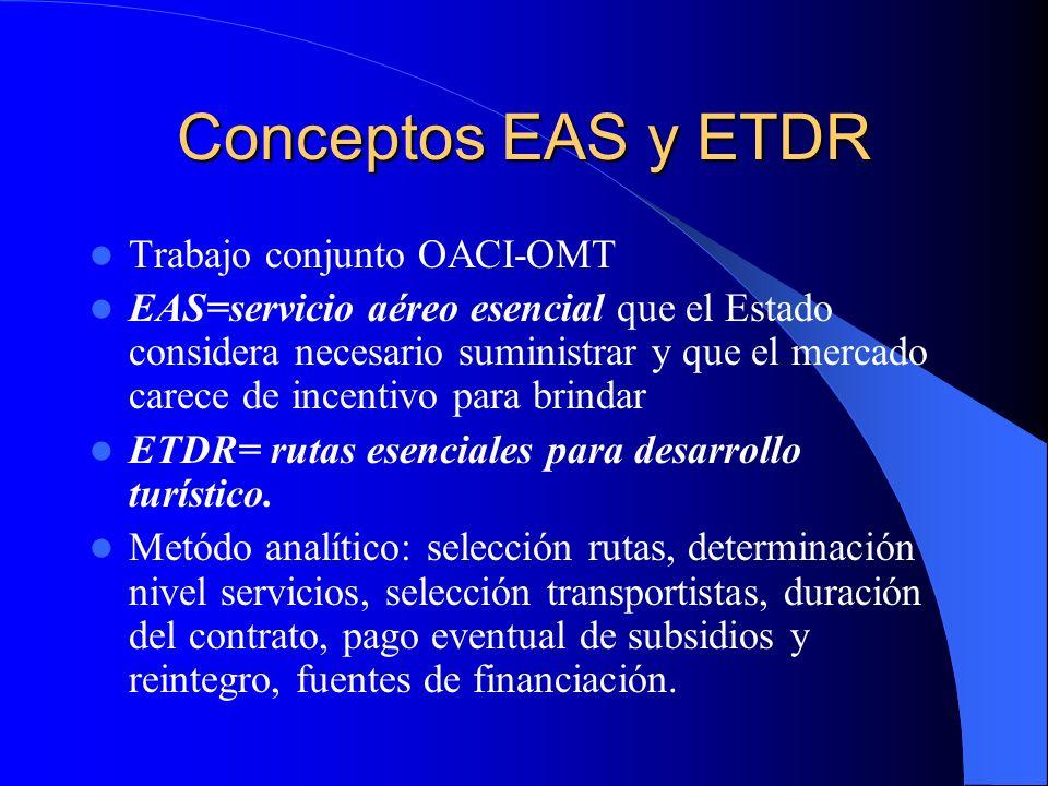 Conceptos EAS y ETDR Trabajo conjunto OACI-OMT
