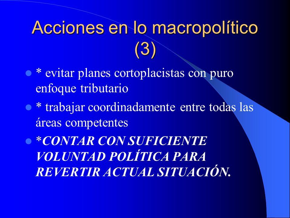 Acciones en lo macropolítico (3)