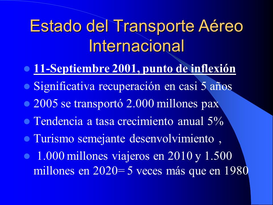 Estado del Transporte Aéreo Internacional