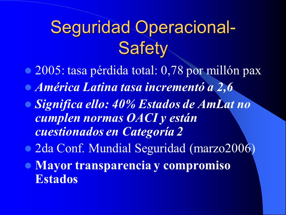 Seguridad Operacional- Safety