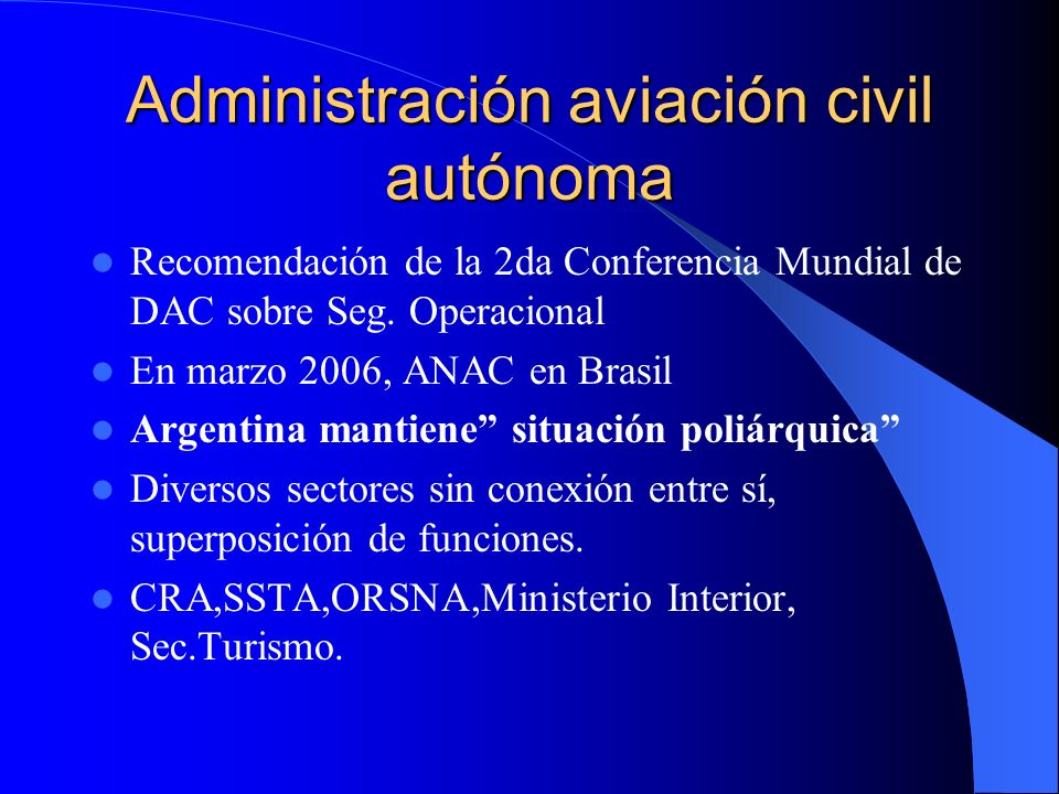 Administración aviación civil autónoma