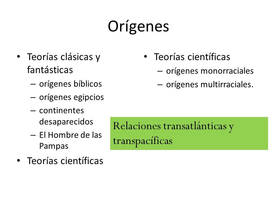 Orígenes Relaciones transatlánticas y transpacíficas