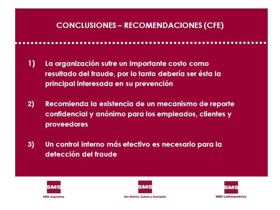 CONCLUSIONES – RECOMENDACIONES (CFE)