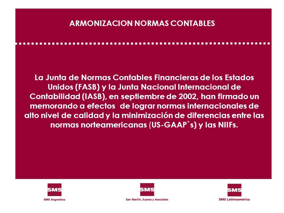 ARMONIZACION NORMAS CONTABLES
