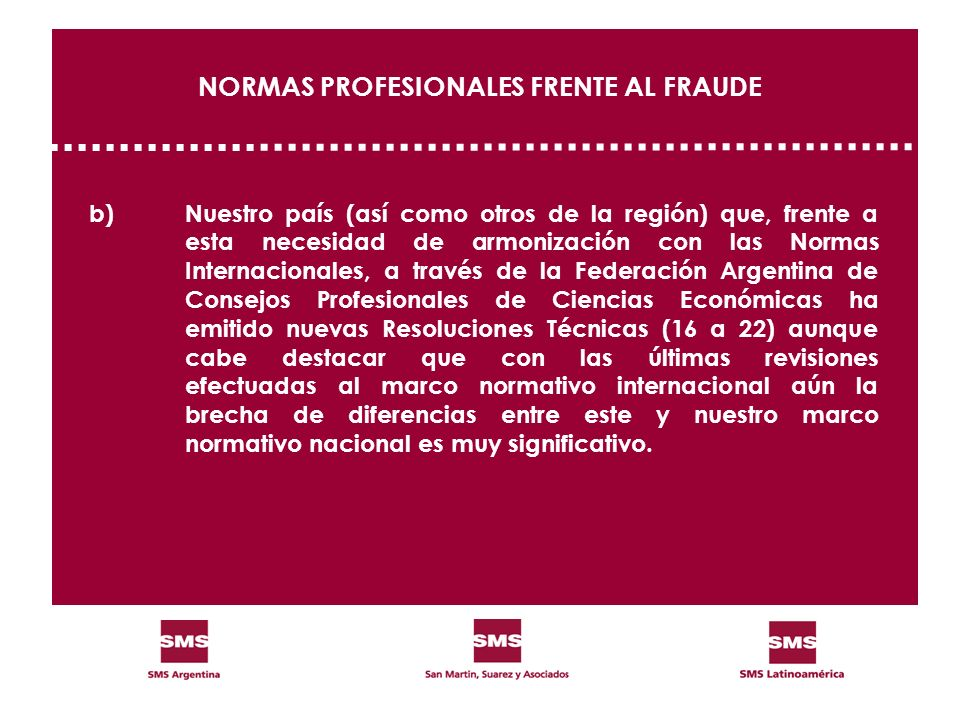 NORMAS PROFESIONALES FRENTE AL FRAUDE