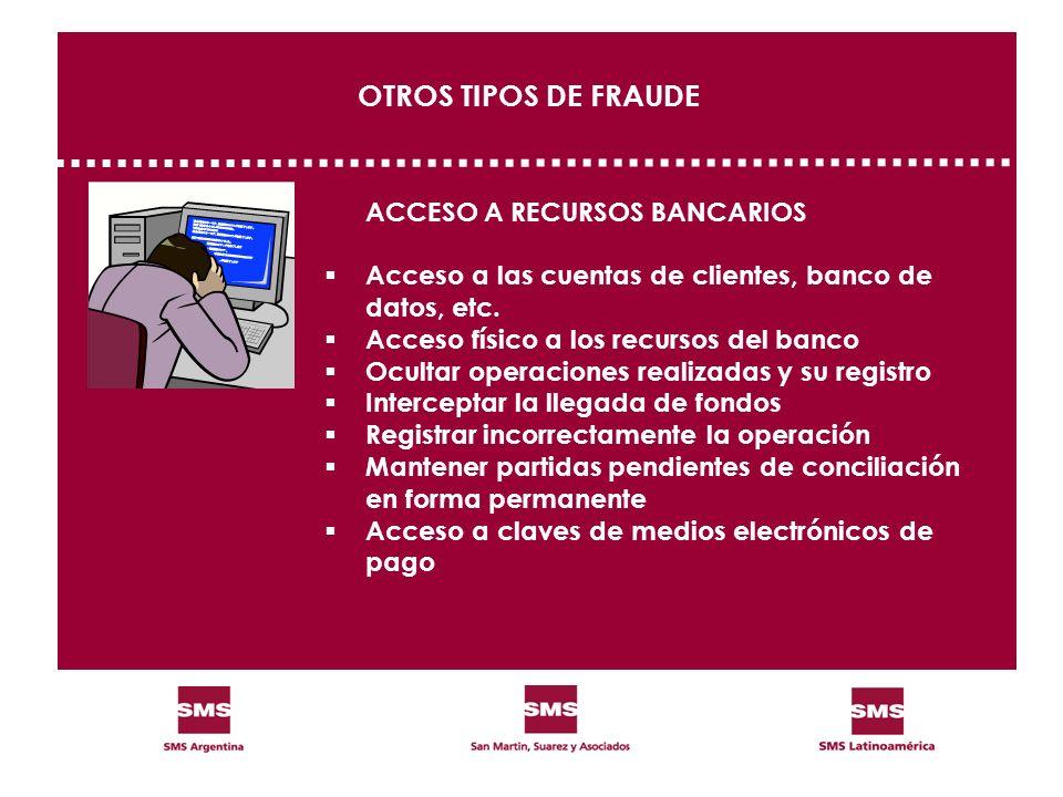 OTROS TIPOS DE FRAUDE ACCESO A RECURSOS BANCARIOS