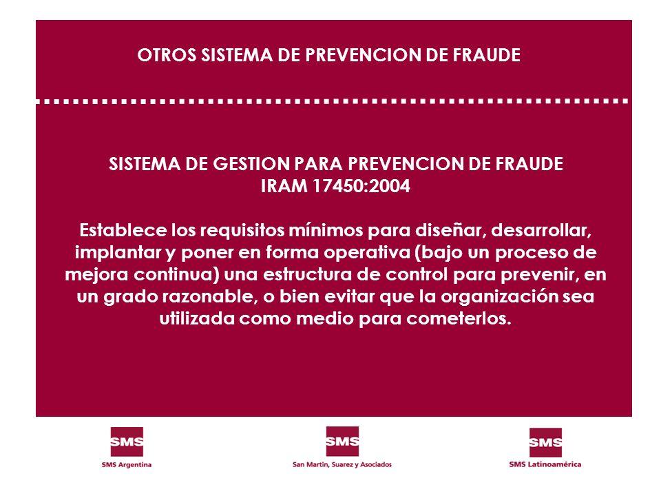 OTROS SISTEMA DE PREVENCION DE FRAUDE