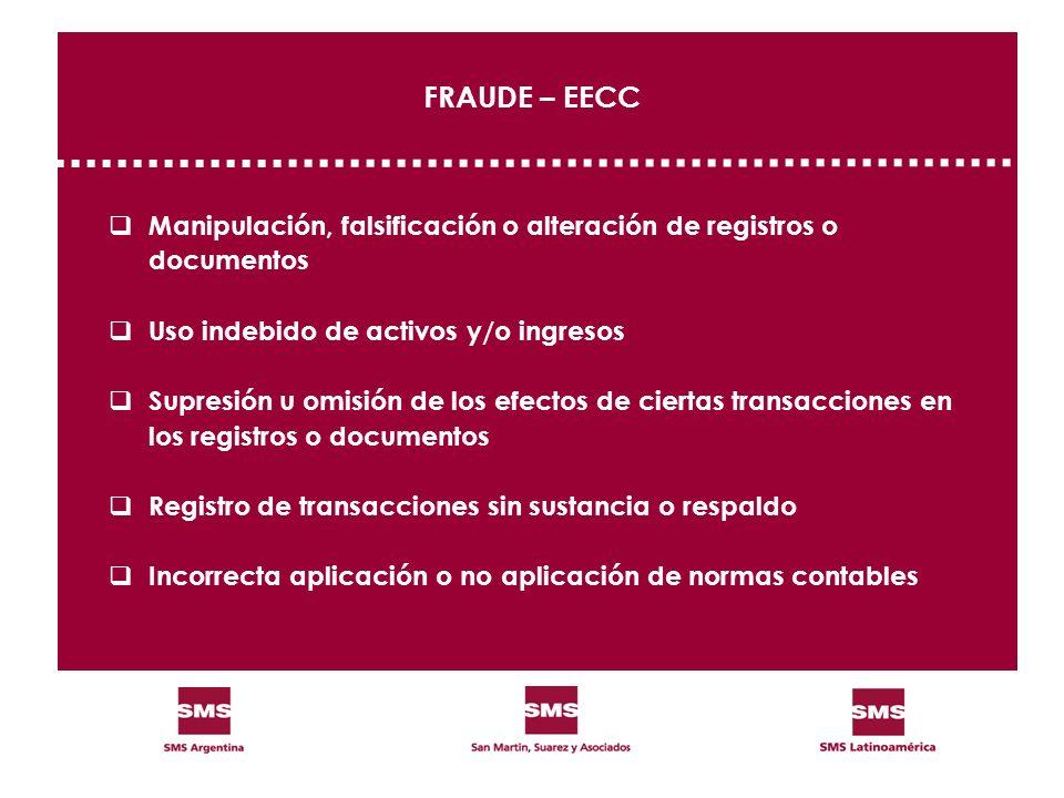 FRAUDE – EECC Manipulación, falsificación o alteración de registros o