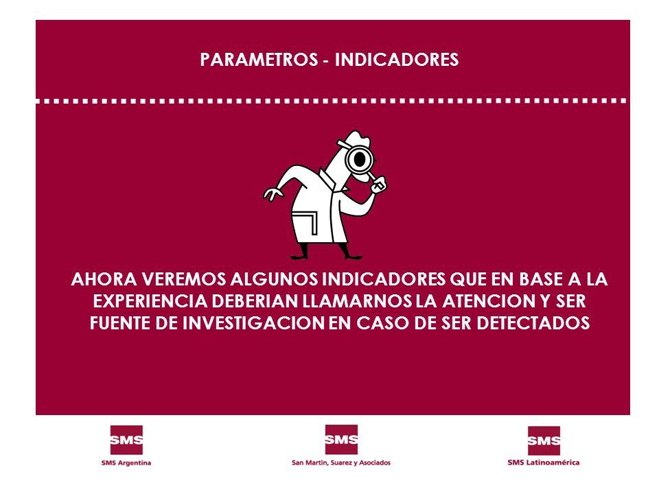 PARAMETROS - INDICADORES