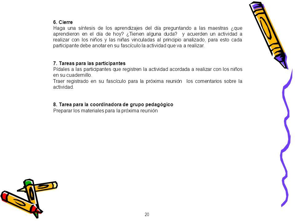 6. Cierre