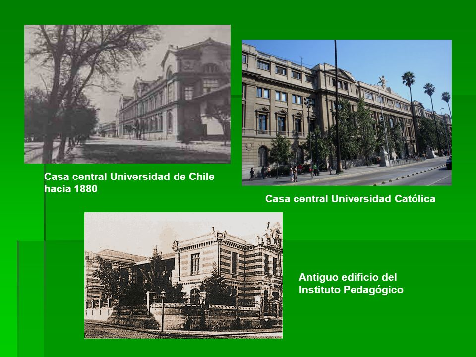 Casa central Universidad de Chile hacia 1880