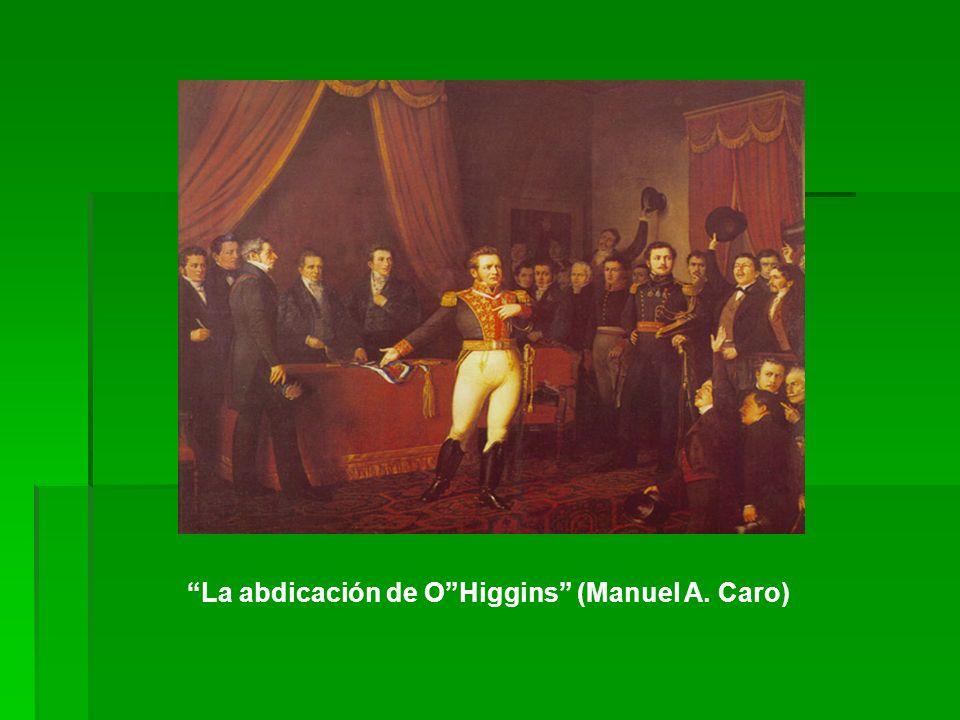 La abdicación de O Higgins (Manuel A. Caro)