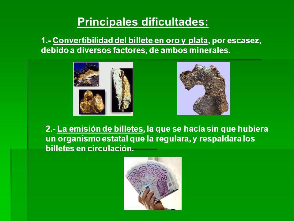 Principales dificultades: