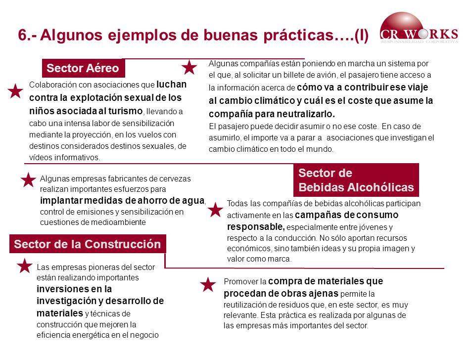       6.- Algunos ejemplos de buenas prácticas….(I) Sector Aéreo