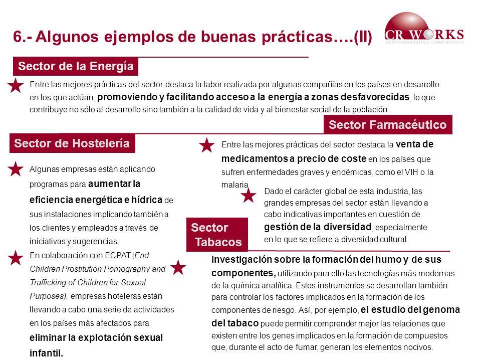       6.- Algunos ejemplos de buenas prácticas….(II)
