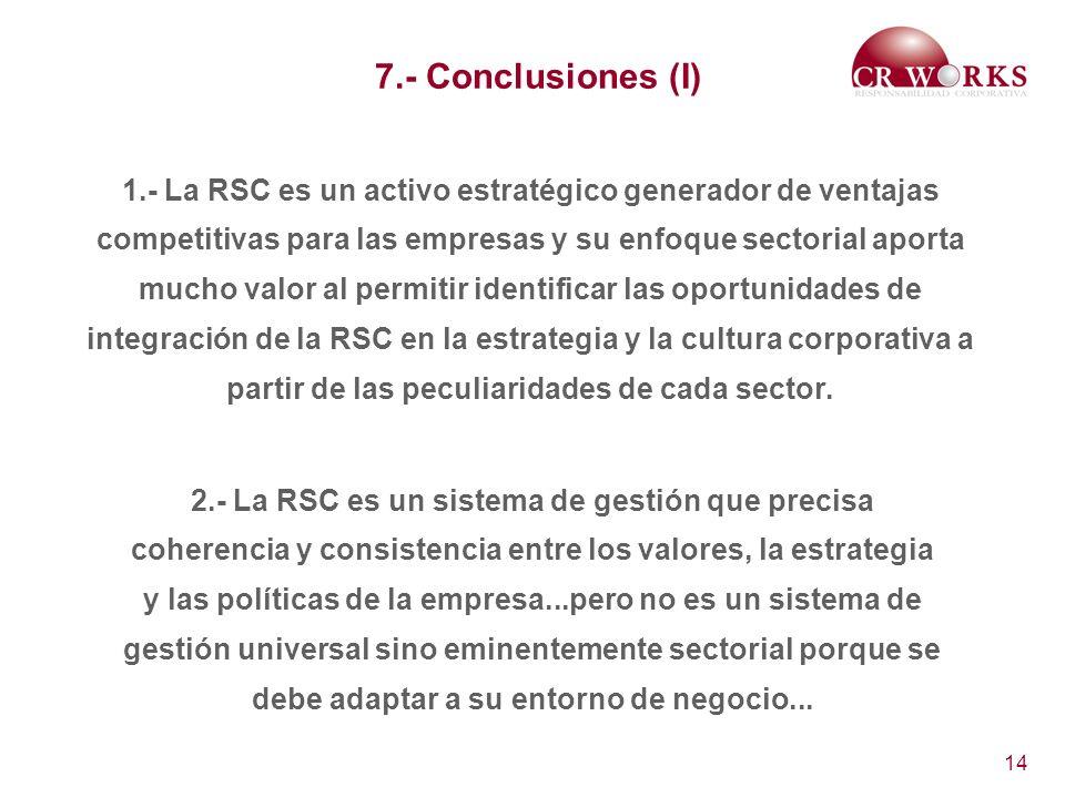 7.- Conclusiones (I)